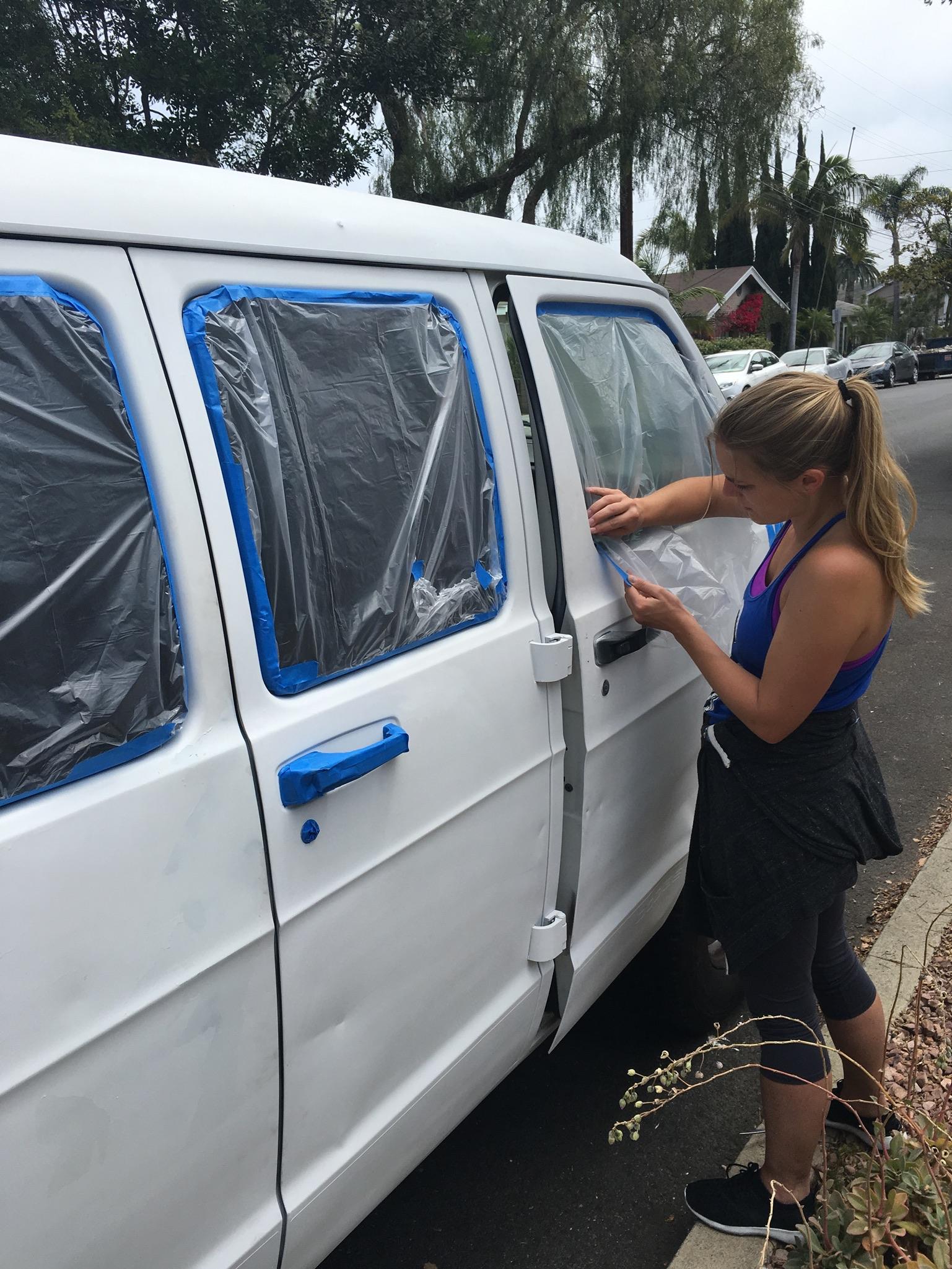 new paint job for the van. Rustoleum!