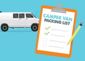 campervan packing list for a roadtrip