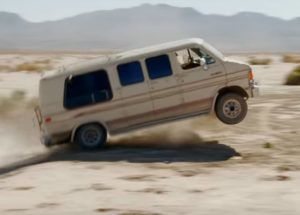 dodge ram van gets airborne