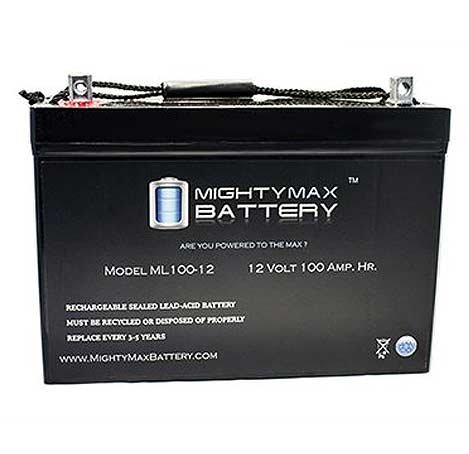 universal agm 100 amp hour battery