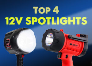 handheld spotlights for marine or camping