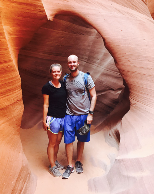 Antelope canyon tour and hike