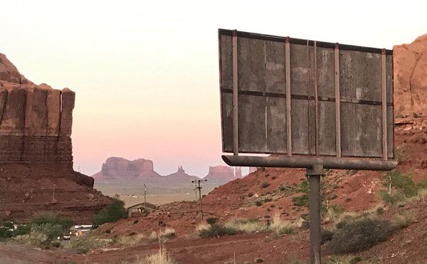 gouldings campground for campervans in monument valley