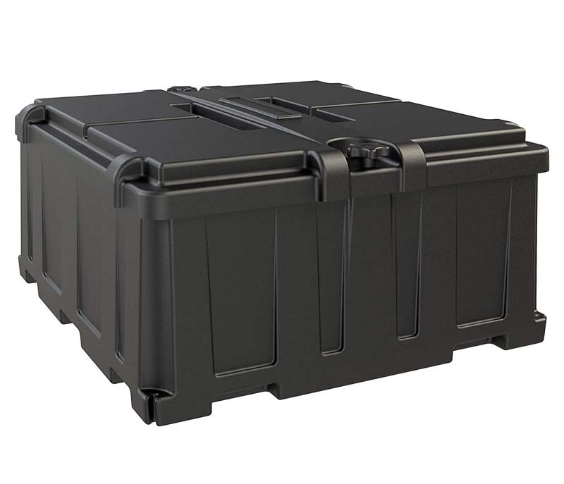 quality double battery box