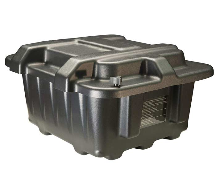 top dual battery box