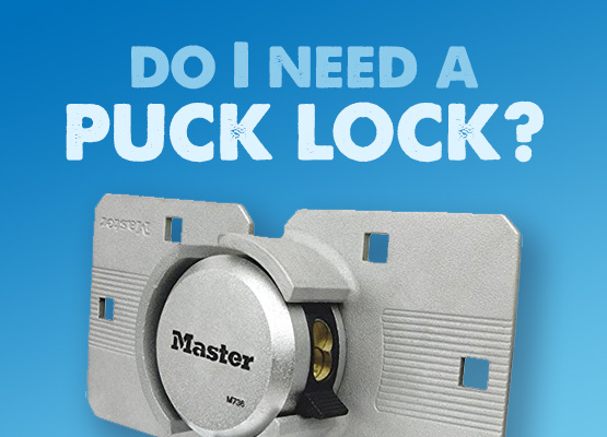 puck lock for a van