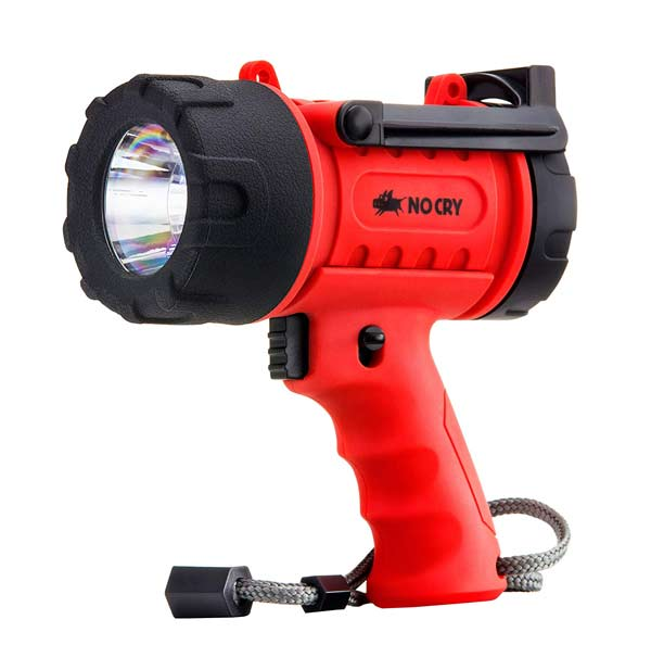 waterproof rechargeable spotlight for boating, etc.