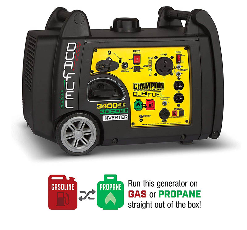 Small propane/gas generator for RV and home