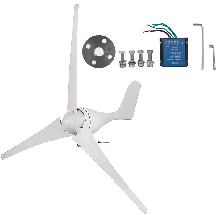 mid-tier wind turbine for battery banks
