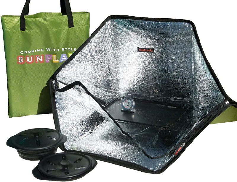 flexible solar powered oven for camping